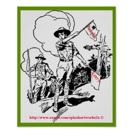 1914 Vintage Boy Scouts of America Signal Signs Posters