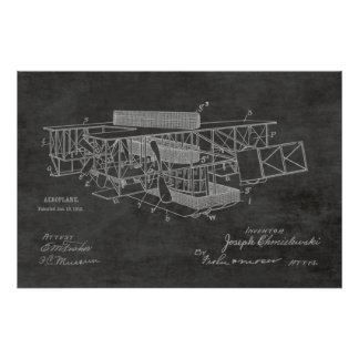 1915 Boat Airplane Patent Art Drawing Print