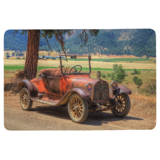 1915 VINTAGE CAR ON COUNTRY ROAD FLOOR MAT