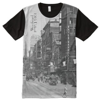 1915 Woodward in Detroit All-Over Print T-Shirt