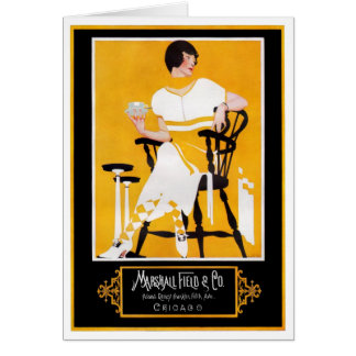 1916!!  COLES PHILLIPS FADE-AWAY COLLECTION CARD