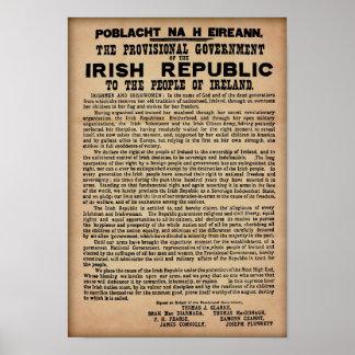 "1916 Irish Proclamation (Original Copy 19""x13"") Poster"