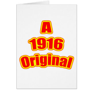 1916 Original Red Card