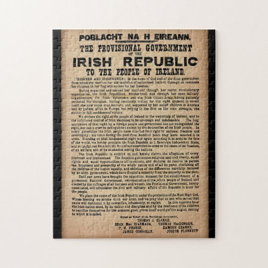 1916 Proclamation of Ireland Jigsaw Puzzle