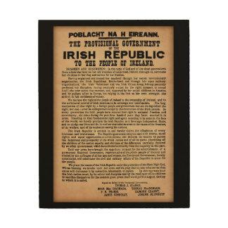 1916 Proclamation of Ireland Wooden Wall Art