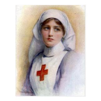 1916 Vintage Reproduction Nurse Postcard