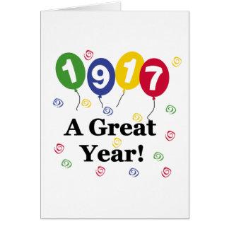 1917 A Great Year Birthday Card