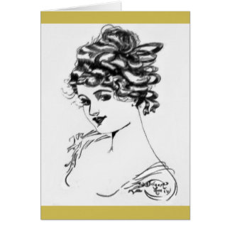 1917 Art Nouveau Note Cards! Card