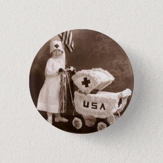 1917 Patriotic Nurse 3 Cm Round Badge