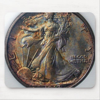 1917 Walking Liberty Half Dollar Mouse Pad