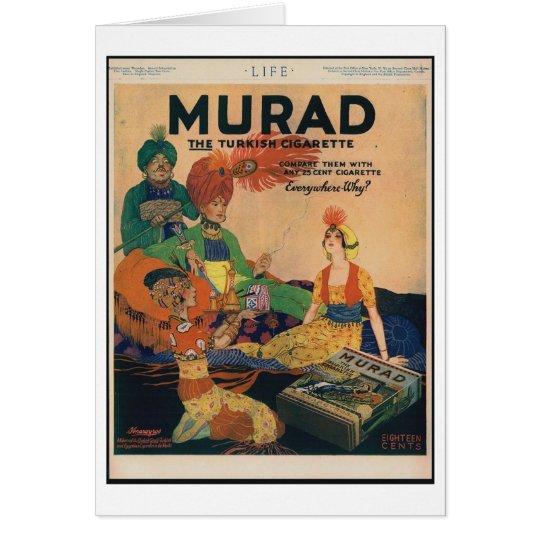 1918 Murad Turkish Cigarette Ad, Card