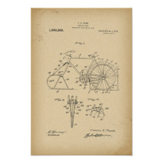 1918 Patent Bicycle sled Poster