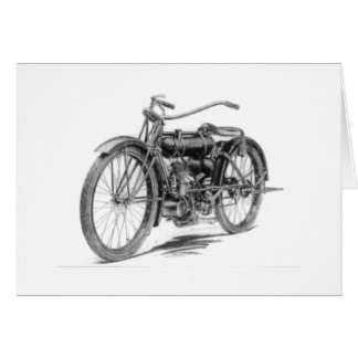 1918 Vintage Motorcycle Card