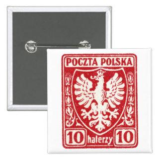 1919 10h Polish Eagle Stamp 15 Cm Square Badge