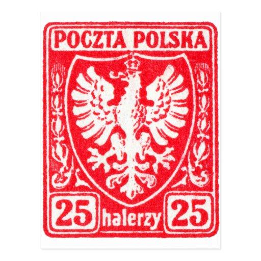 1919 25h Polish Eagle Stamp Post Cards