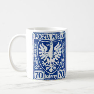 1919 70h Polish Eagle Stamp Coffee Mug