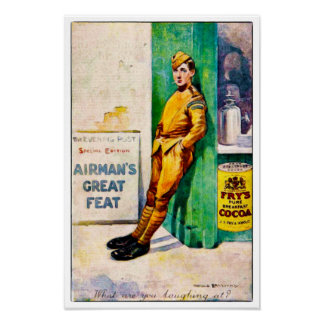 1919 Airman Watercolour Print