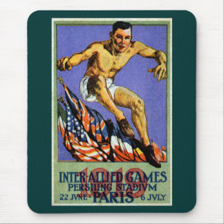 1919 Allied Games Poster Mousepad