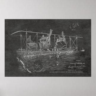 1919 Biplane Bomber Patent Art Drawing Print