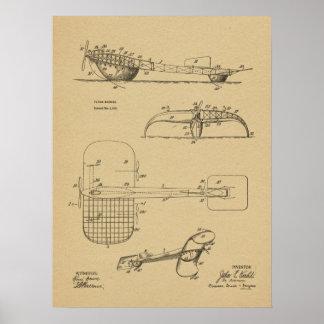 1919 Flying Machine Seaplane Patent Drawing Print