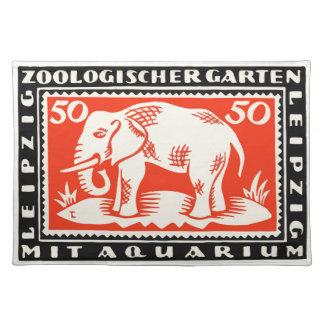 1919 Germany Leipzig Zoo Notgeld Banknote Placemat