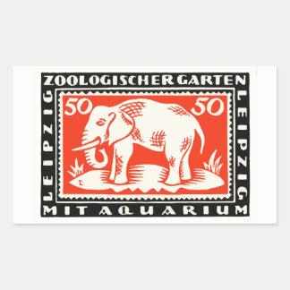 1919 Germany Leipzig Zoo Notgeld Banknote Rectangular Sticker