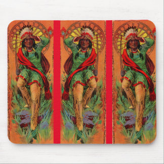 1919 Native American Indian illustration Mouse Pad