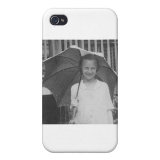 1920-1930's Girl with Umbrella Case For iPhone 4