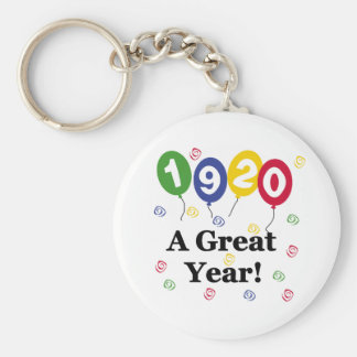 1920 A Great Year Birthday Basic Round Button Key Ring