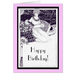 1920 Art Deco Birthday Card