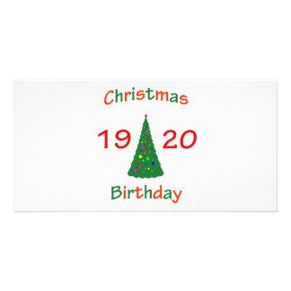 1920 Christmas Birthday Photo Greeting Card