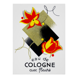 1920 French Floral perfume Poster
