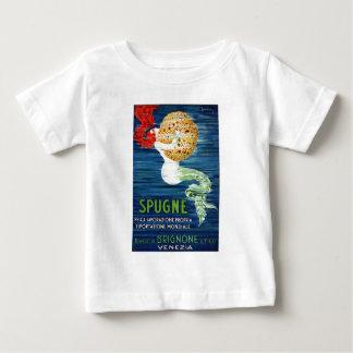 1920 Italian Mermaid With Sponge Advertising Poste Baby T-Shirt