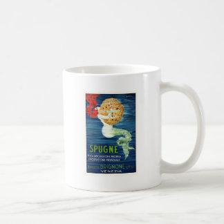 1920 Italian Mermaid With Sponge Advertising Poste Coffee Mug