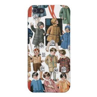 1920 Kids Coats & Hats Ad Label Speck Case iPhone4 iPhone 5 Covers