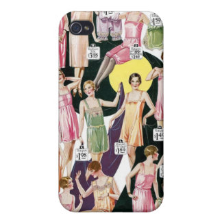 1920 Lustrous Lingerie Ad Label Speck Case iPhone4 Covers For iPhone 4