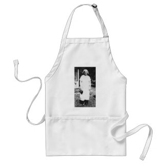 1920 s Lady with purse going shopping Apron