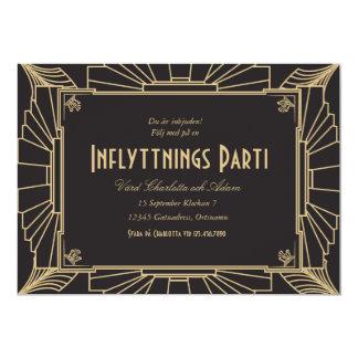 1920-teman inflyttningsfest inbjudan card