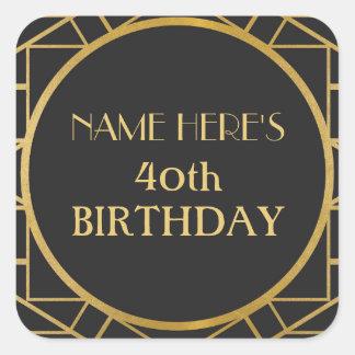 1920's Art Deco Birthday Gatsby Address Stickers