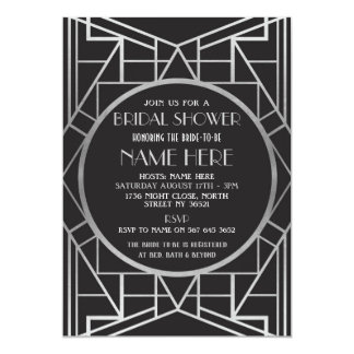 1920s art deco bridal shower gatsby party invite - Gatsby Party Invitation