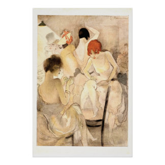 1920s Art Deco ~ Girls in the Dressing Room Poster