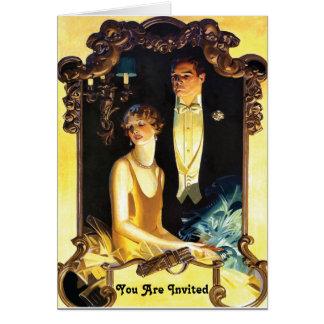 1920s Art Nouveau Custom Formal Greeting Card