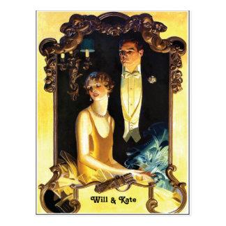 1920s Art Nouveau Custom Formal Postcard
