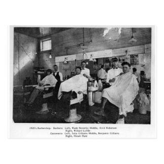 1920's Barbershop--Wise, Virginia Postcard