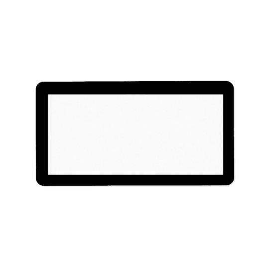 1920's Black & White Address Label