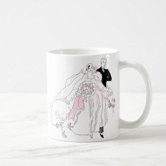 1920s Bride and Groom Basic White Mug