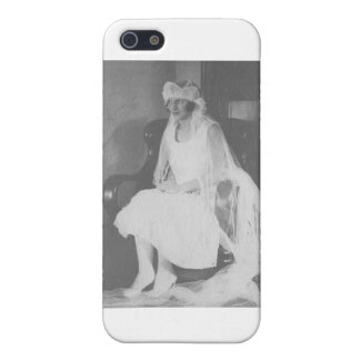 1920's Bride waiting sitting in chair iPhone 5 Cases