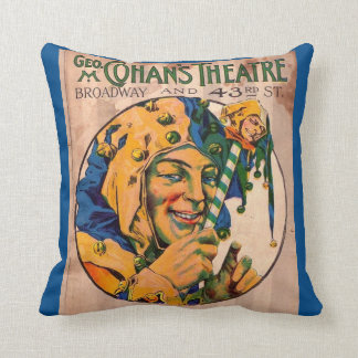 1920s Cohan's Theatre playbill cover Cushion