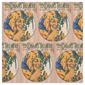 1920s Cohan's Theatre playbill cover print Fabric