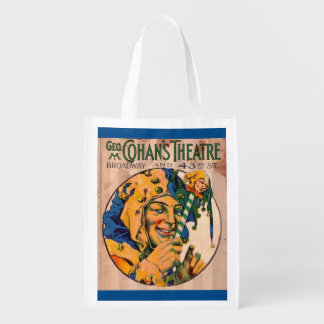1920s Cohan's Theatre playbill cover Reusable Grocery Bag
